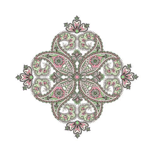 Amuleto étnico oriental da mandala do fundo árabe do ornamento.