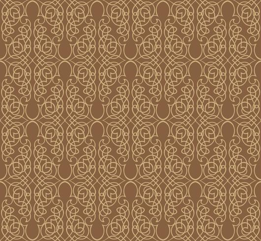 Swirl floral pattern. Abstract ornament. Brocade seamless background vector