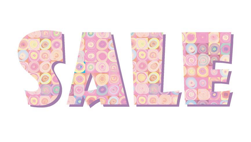 Sale banner. Big summer sale sign over white background vector