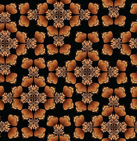 Patrón transparente floral remolino. Fondo ornamental en el estilo ruso. vector