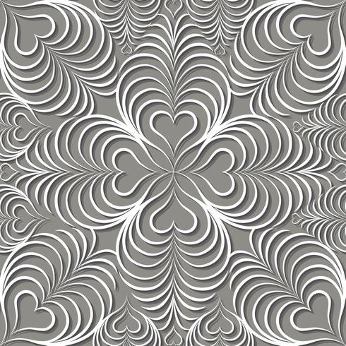 Ornement de ligne arabe tourbillon. Modèle sans couture floral oriental