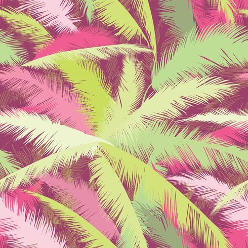 Floral pattern. Palm tree leaves. Summer seamless texture vector