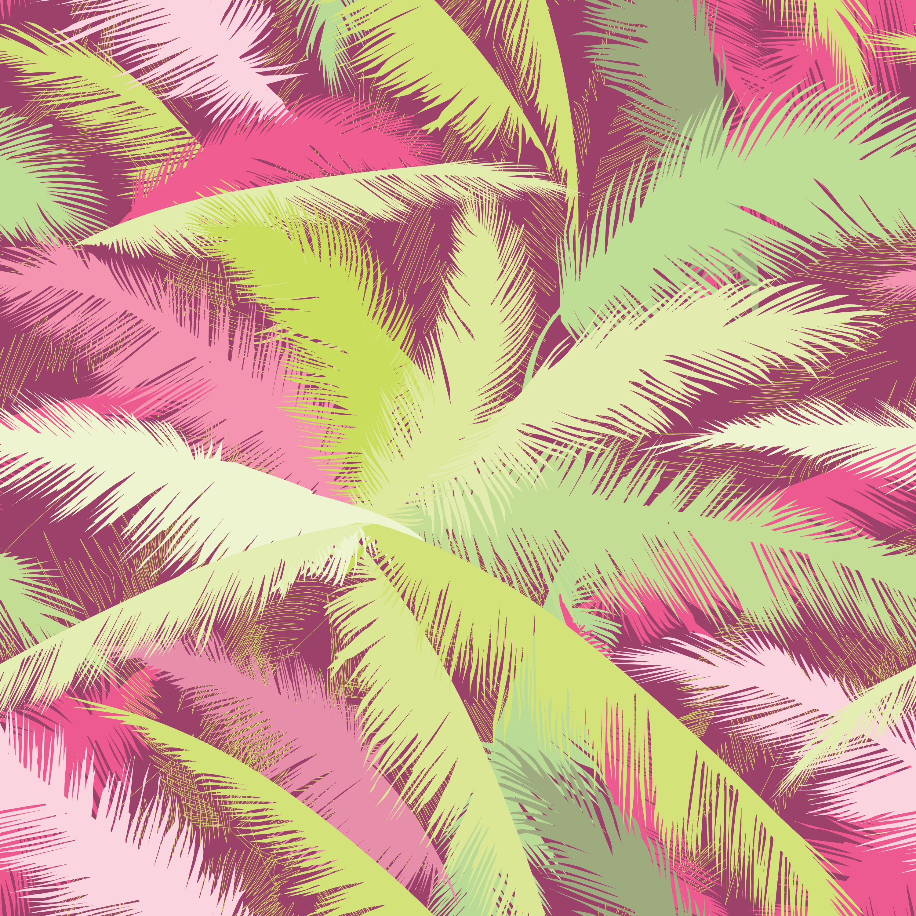 Floral pattern. Palm tree leaves. Summer seamless texture ...