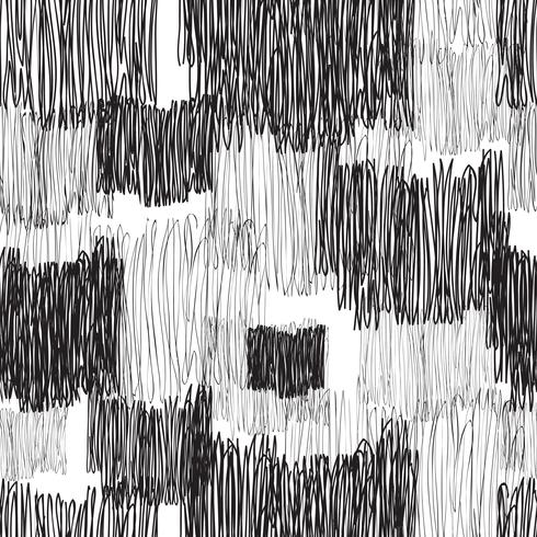 Abstract geometric seamless pattern. Line drawn tile texture