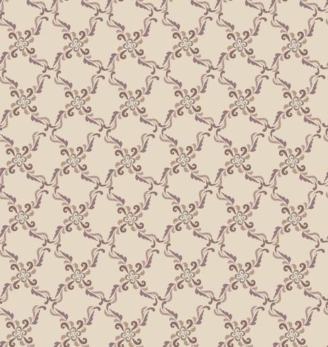 Patrón de línea oriental Fondo de tela de remolino abstracto ornamento floral vector