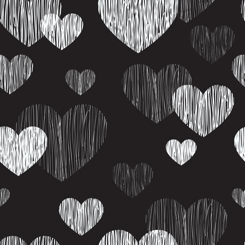 Love heart seamless pattern. Happy Valentines day background