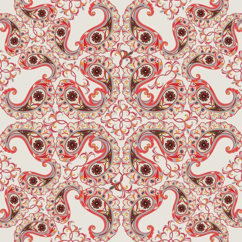 Bloemen naadloze achtergrond. Oosters ornament. Bloem patroon.