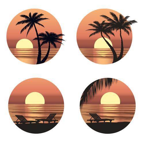 Summer holidays background. Seaside View. Beach resort wallpaper vector