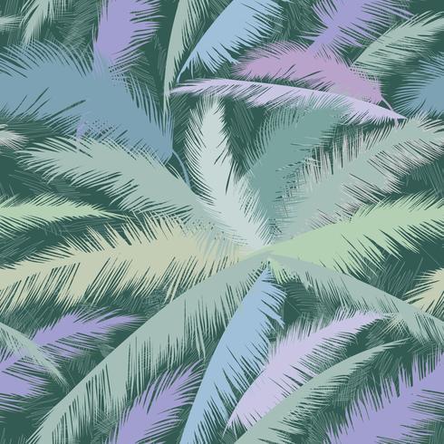 Bloemmotief palmboom bladeren. Natuur lente geweven achtergrond.