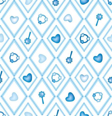 nahtloses Baby Spielzeug Muster, Kinderspielzeug Diamantverzierung
