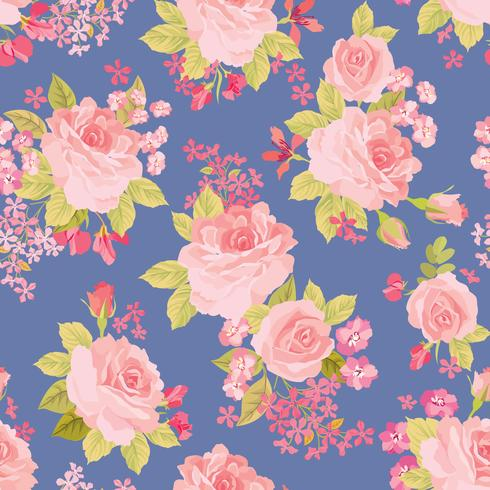 Floral seamless pattern. Flower background. Garden texture