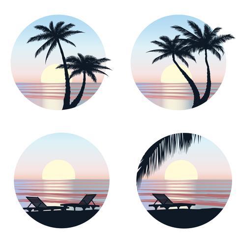 Fondo de vacaciones de verano. Vista al mar. Fondo de pantalla de resort de playa