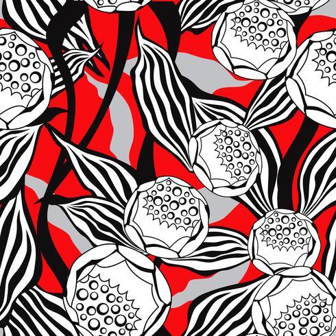 Patrón floral sin fisuras Fondo de la flor. Textura ornamental vector