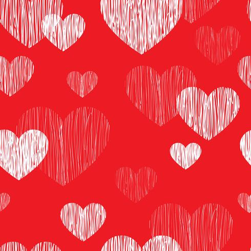 Modelo inconsútil del corazón del amor. Fondo feliz día de San Valentín