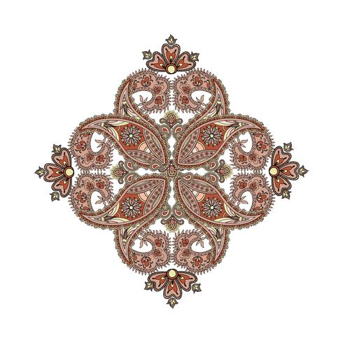 Fondo árabe del ornamento amuleto étnico oriental del mandala. vector