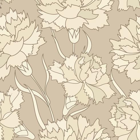 Floral rétro modèle sans couture. Fond de fleurs gravées.