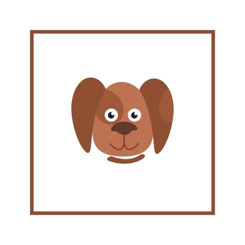 Segno di testa di cane. Cartone animato animale domestico. Icona del cucciolo vettore