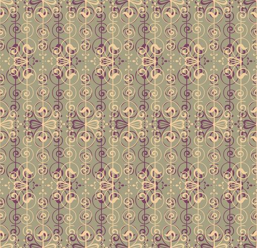 Patrón abstracto sin fisuras Remolino retro línea adorno. vector