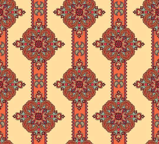 Adornos florales abstractos. Patrón ornamental sin costuras en flor. vector