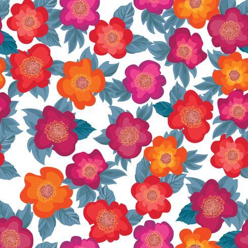 Patrón floral sin fisuras Fondo de la flor. Adorno de jardín vector
