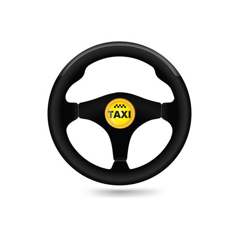Taxi bilskylt. Bilhjulikonet. Vektor