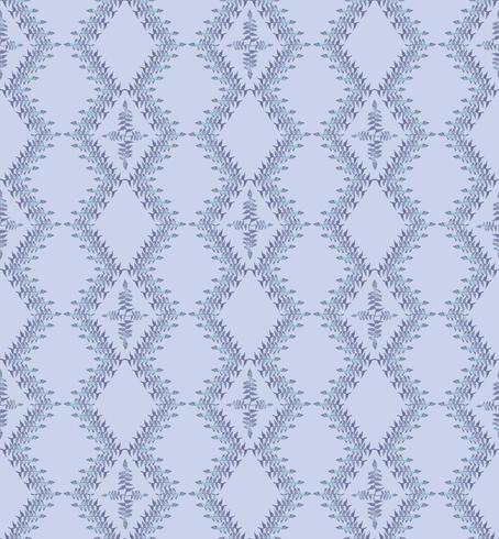 Abstract oriental floral tile pattern. Geometric ornament