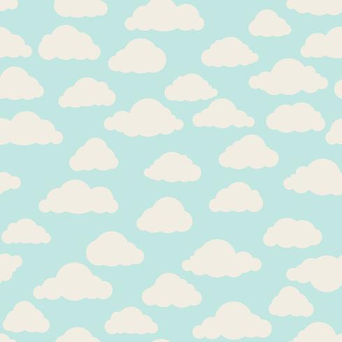 Cloud pattern. Cloudy sky seamless backround