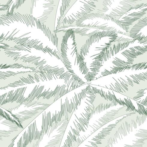 Patrón floral de hojas de palmera. Fondo de primavera de naturaleza con textura. vector