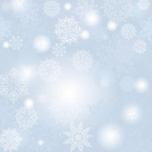 Patrón de desenfoque de nieve. Navidad fondo de invierno nevado naturaleza fondo vector
