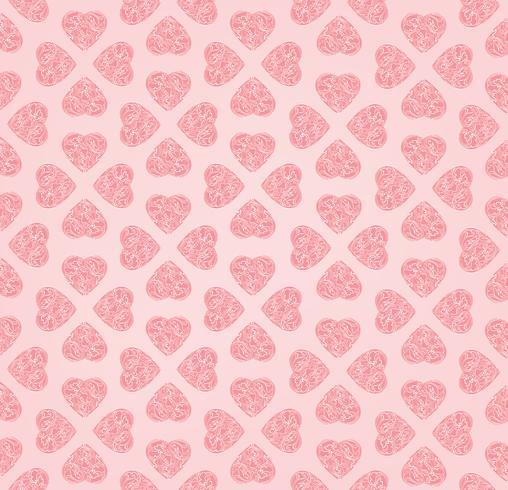 Amor corazón doodle de patrones sin fisuras día de San Valentín azulejo vacaciones ornamento