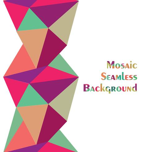 Abstract seamless border pattern. Geometric background vector