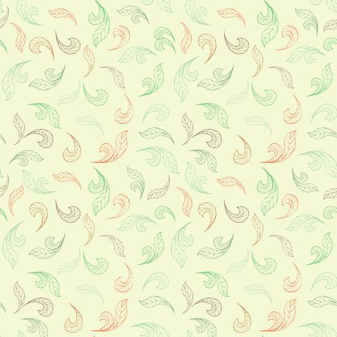 Patrón floral sin fisuras Hoja de fondo Florecer la textura del jardín. vector