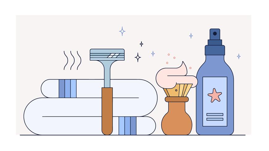 Vector de artículos de peluquero