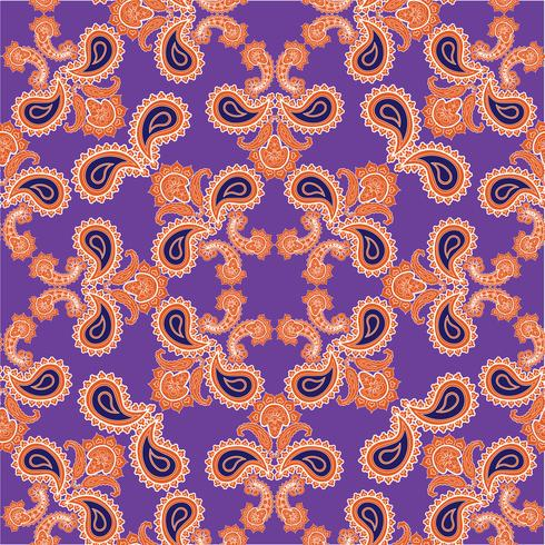 Arabic floral swirl line ornament. Oriental flower seamless pattern vector