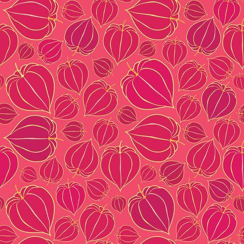 Blommigt sömlöst mönster. Fall bakgrund. Blomstra prydnad