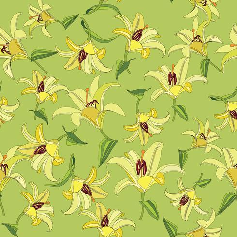 Patrón floral. Flor de fondo sin fisuras. Floreciente jardín ornamental. vector
