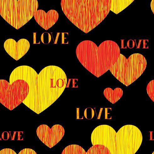 Liebe Herz nahtlose Muster. Happy Valentinstag Hintergrund