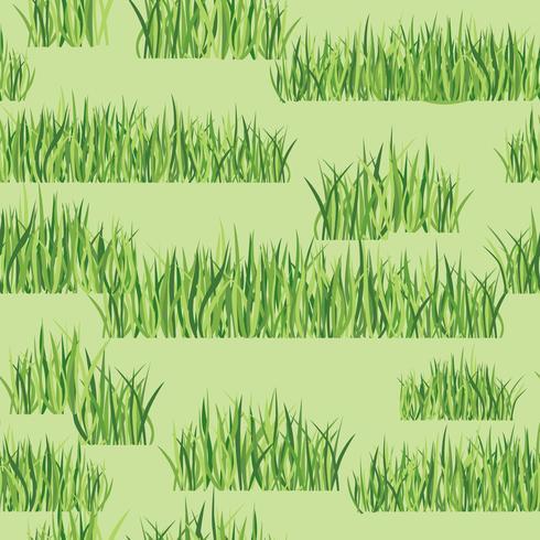Patrón floral sin fisuras con la hierba. Fondo de azulejo de prado vector