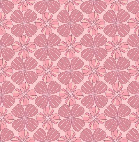 Resumo oriental floral padrão sem emenda. Ornamento geométrico flor