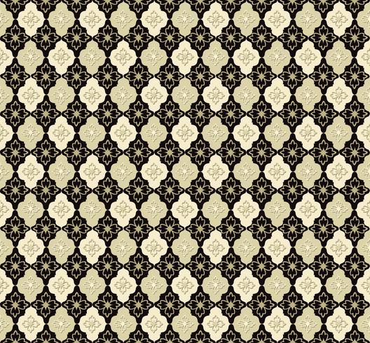 Patrón de flores sin fisuras Ornamento floral abstracto. Textura de brocado vector