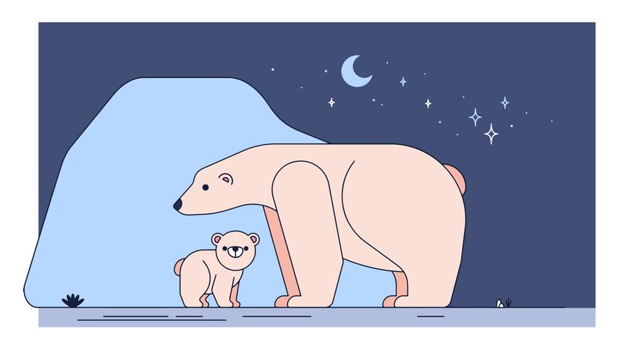 Vector de oso polar