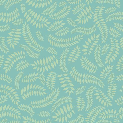 Floral seamless pattern. Leaf background. Flourish ornament with leaves vector