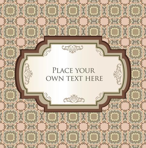 Tarjeta de felicitación oriental o invitación sobre patrón floral transparente vector