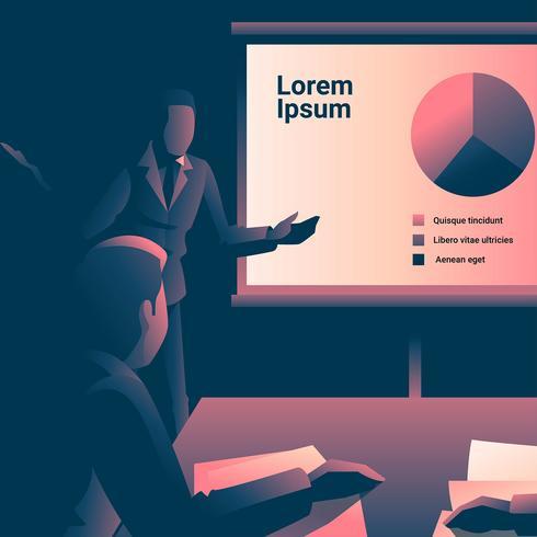 Oficina presentación ilustración vectorial vector