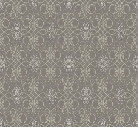 Patrón floral de remolino. Ornamento abstracto Fondo transparente de brocado vector