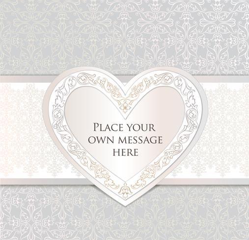Tarjeta de felicitación del fondo del día de fiesta de los corazones del amor Marco de la fecha romántica.