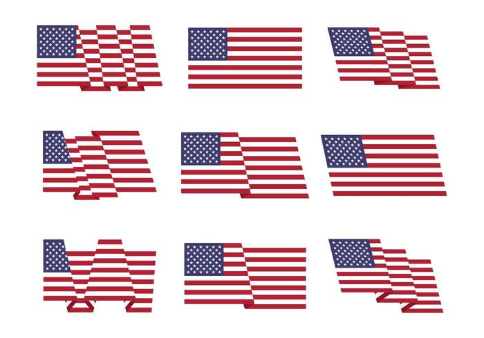 Bandera americana conjunto de vectores