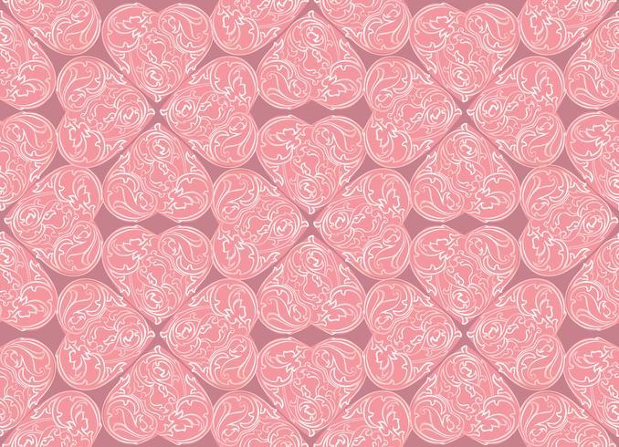 Línea arte lve corazones de patrones sin fisuras. Adorno de día de san valentín vector
