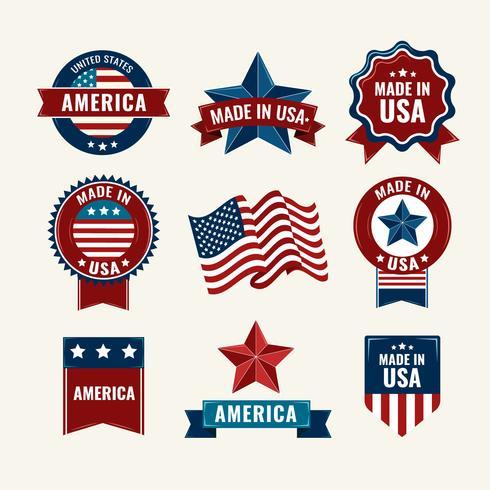 Vintage American Labels  vector