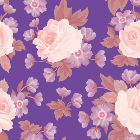 Naadloze bloemmotief. Bloem achtergrond. Tuin textuur